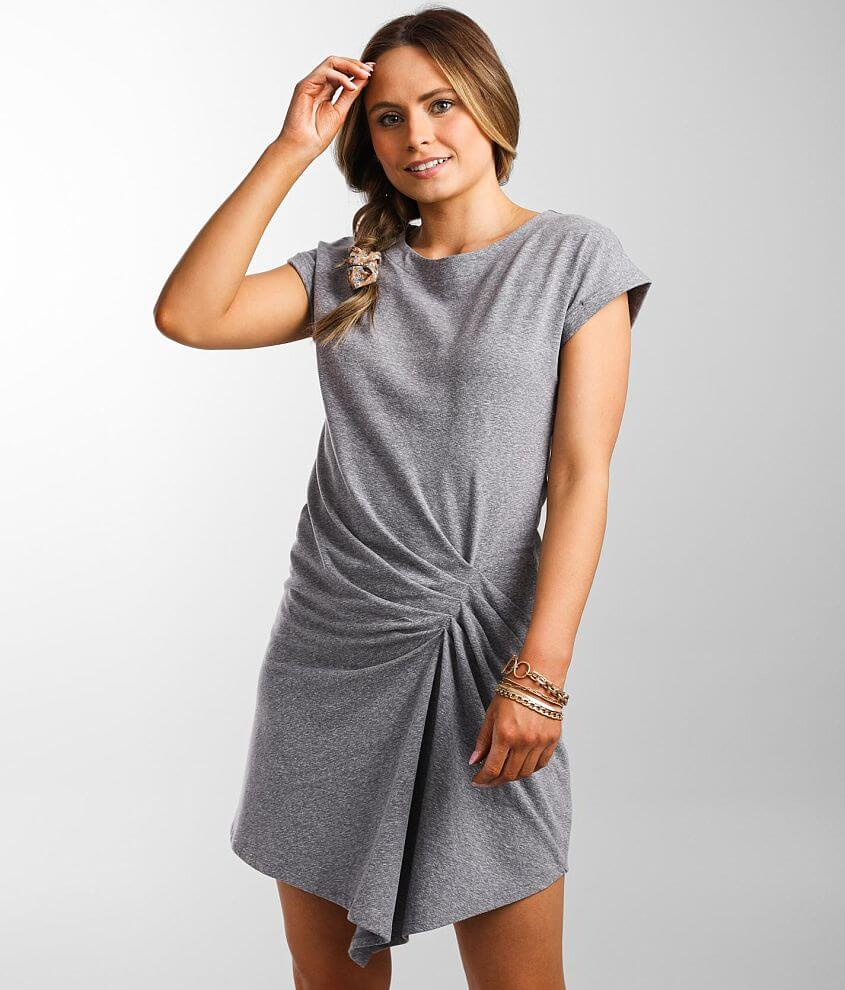 Daytrip Pleated Waist Knit Dress front view