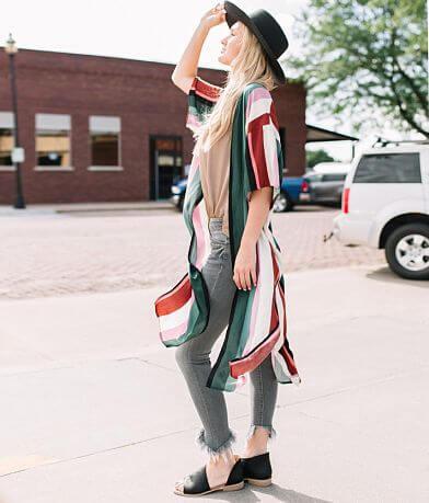 Willow & Root Striped Duster Kimono