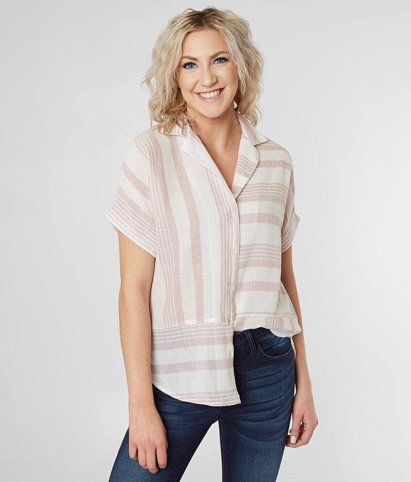 Willow & Root Striped Shirt front view