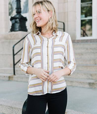 Willow & Root Striped Blouse