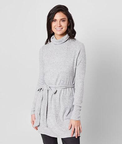 red by BKE Brushed Turtleneck Tunic Sweater