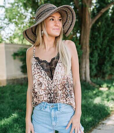 Willow & Root Snakeskin Print Tank Top