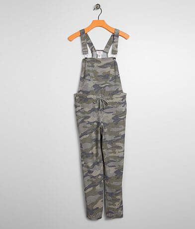 Girls - Daytrip Camo Knit Overalls