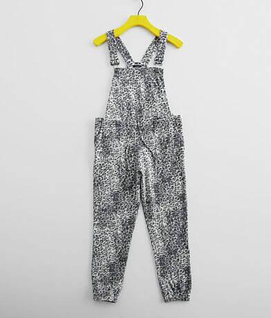 Girls - Daytrip Leopard Knit Overalls