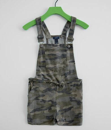 Girls - Daytrip Camo Overall Shorts