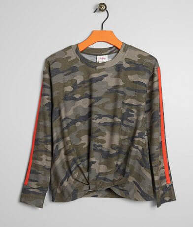Girls - Daytrip Camo Print T-Shirt