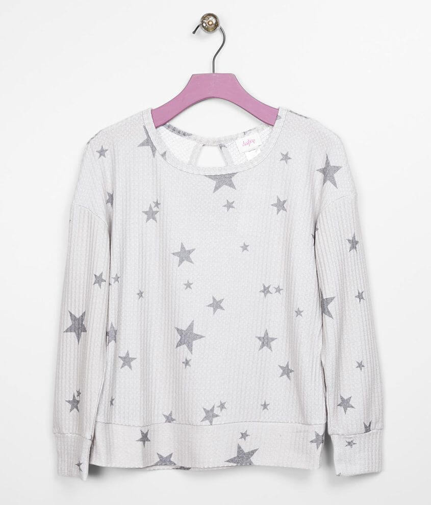 Girls - Daytrip Waffle Knit Top front view