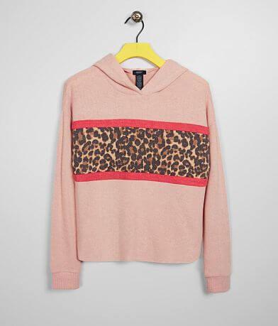 Girls - Daytrip Cheetah Print Blocked Hoodie