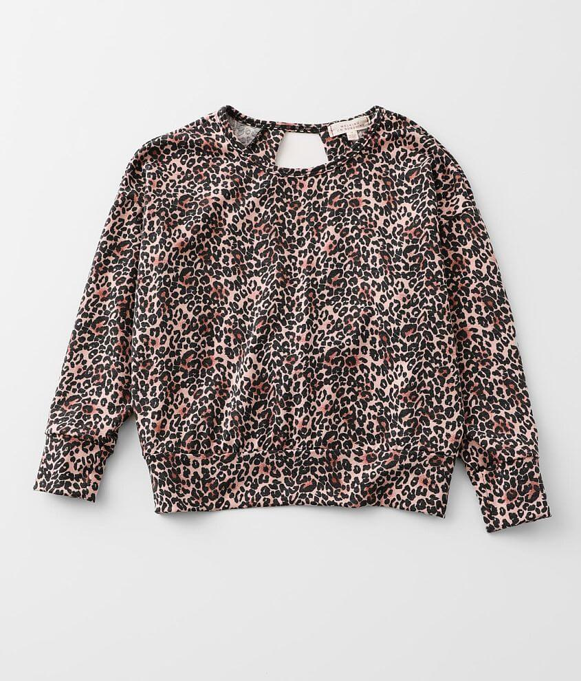 Girls - Walking On Sunshine Leopard Pullover front view