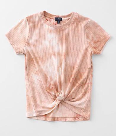 Girls - Daytrip Tie Dye Front Tie T-Shirt