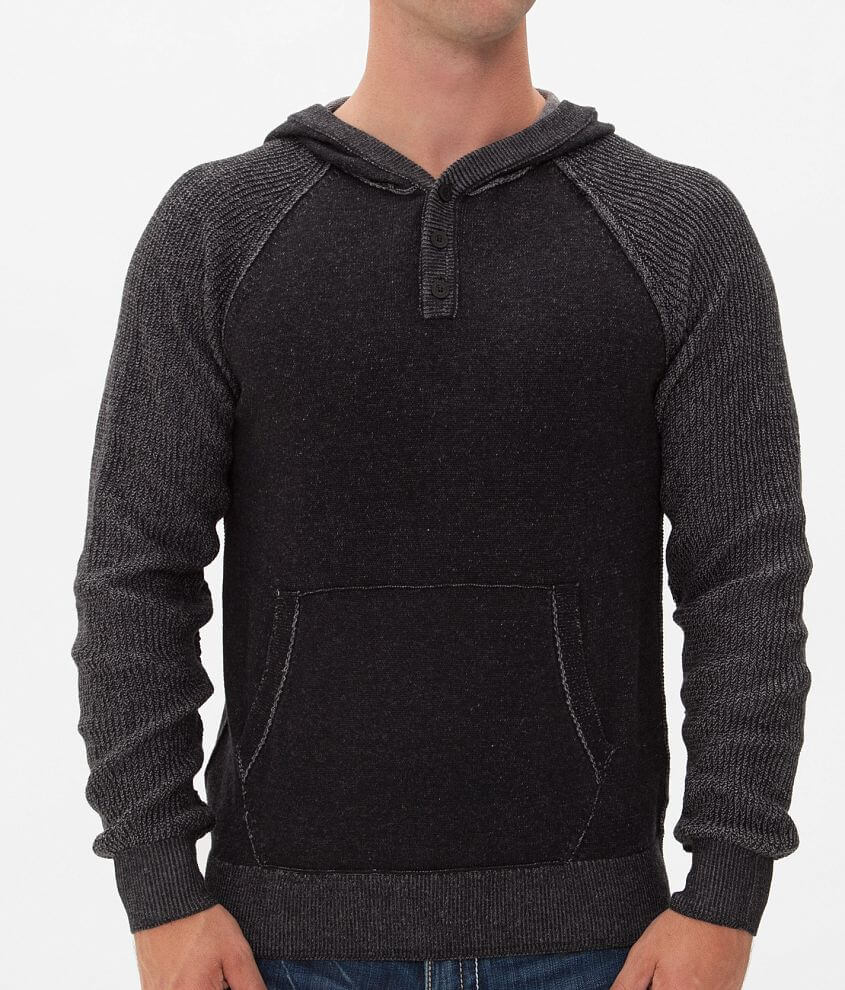 Buckle Black Atomic Henley Sweater front view