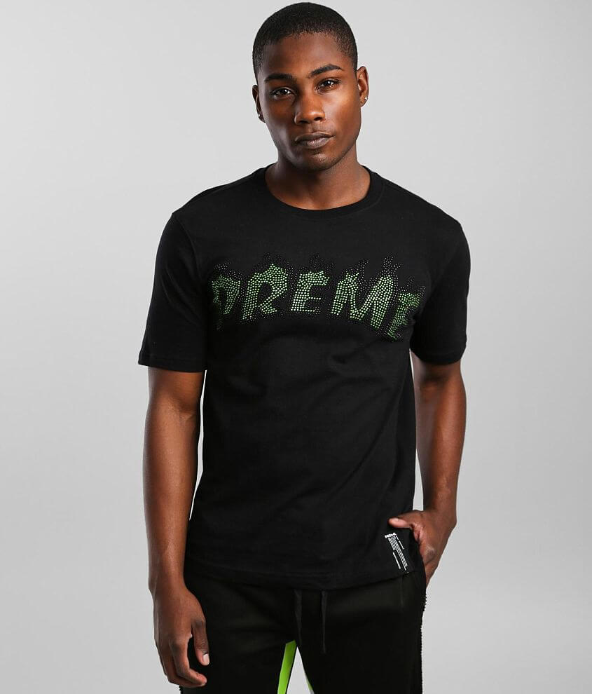 PREME Neon Embellished T-Shirt front view