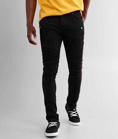 PREME Black Moto Skinny Stretch Jean