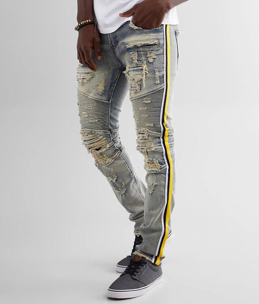 PREME Male Moto Skinny Stretch Jean front view