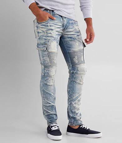 PREME Niagara Moto Skinny Cargo Stretch Jean