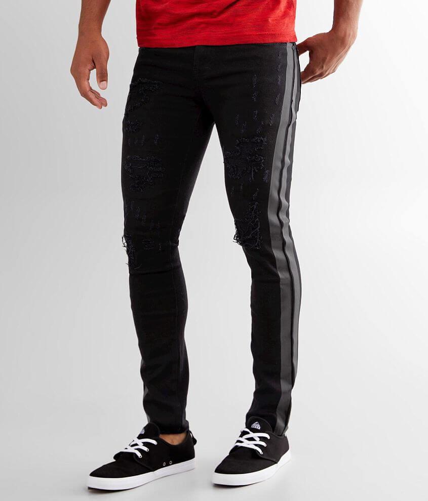 PREME Black Skinny Stretch Jean front view