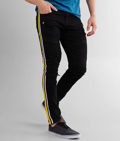 PREME Buffalo Moto Side Stripe Skinny Stretch Jean