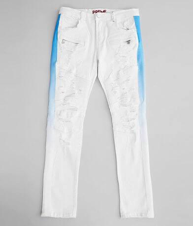 PREME White Moto Skinny Stretch Jean