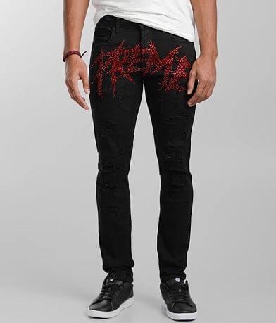 PREME Black Skinny Stretch Jean