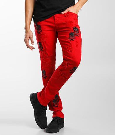 PREME Red Skinny Stretch Jean