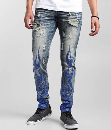 PREME Flames Skinny Stretch Jean