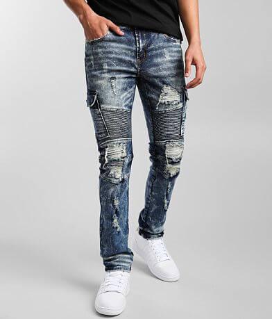 PREME Moto Skinny Cargo Stretch Jean