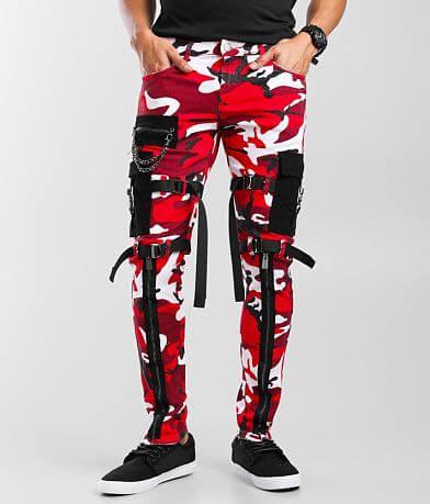 PREME Red Camo Cargo Skinny Stretch Jean