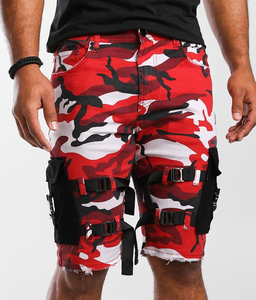 PREME Red Camo Cargo Stretch Short front view