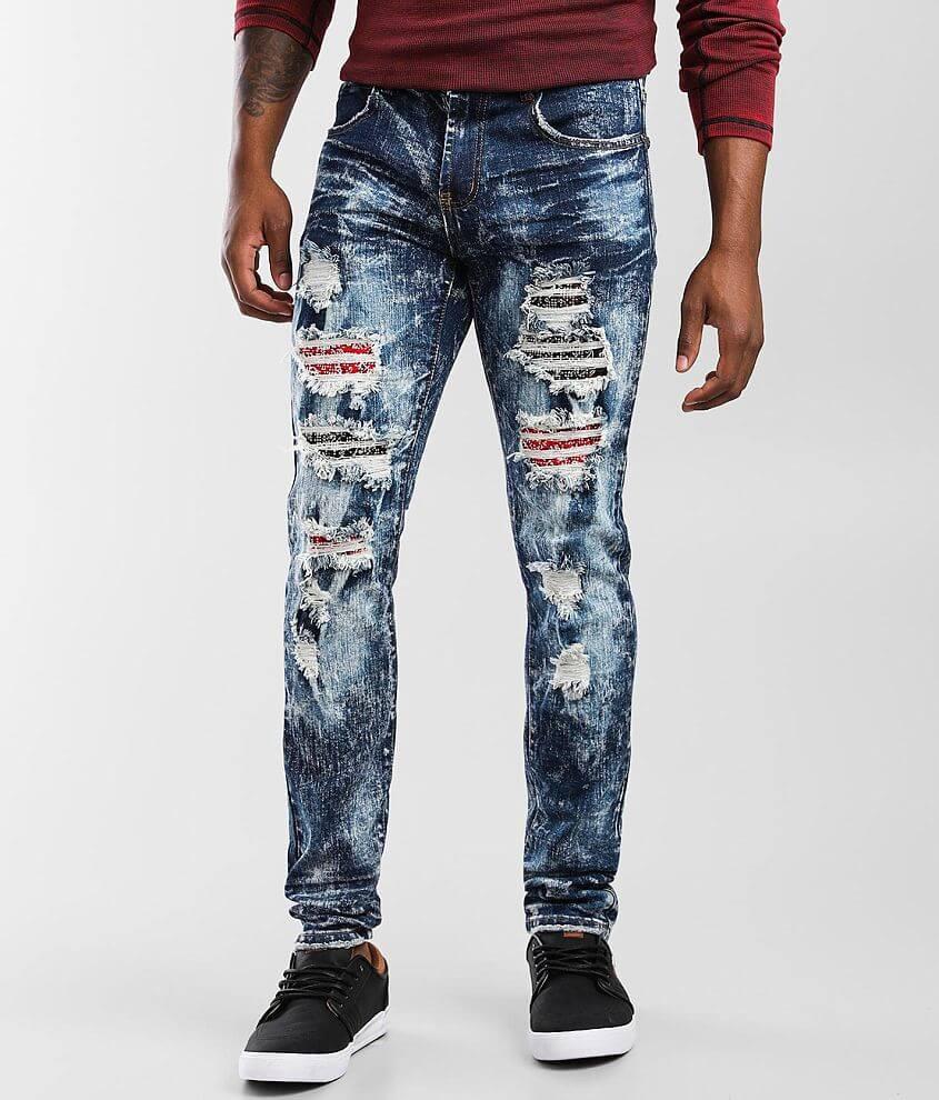 PREME Indigo Skinny Stretch Jean front view