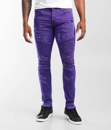 PREME Purple Moto Skinny Stretch Jean