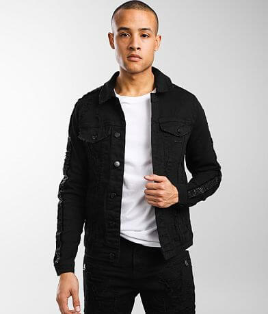 PREME Black Stretch Denim Jacket