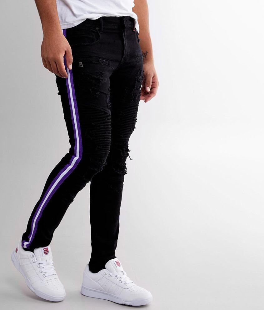 PREME Buffalo Moto Side Stripe Skinny Stretch Jean front view