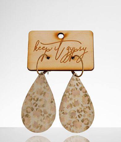 Keep It Gypsy Leopard Leather Earring