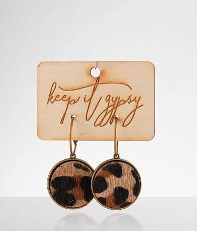 Keep It Gypsy Leopard Print Earring