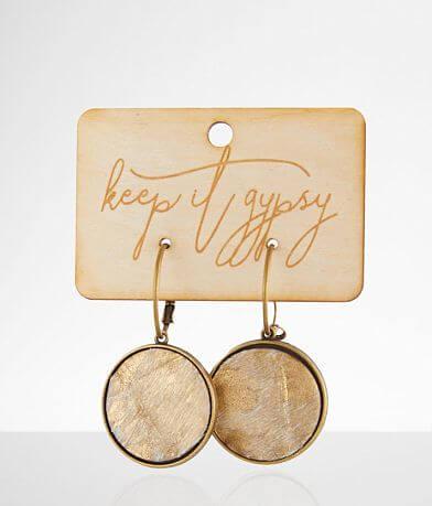 Keep It Gypsy Metallic Leather Earring