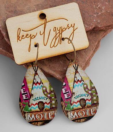 Keep It Gypsy Tepee Leather Earring