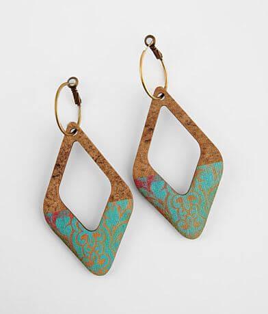Keep It Gypsy Diamond Wood Earring