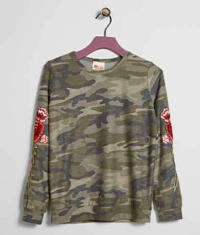 Girls- Kiddo By Katie Camo Sweatshirt