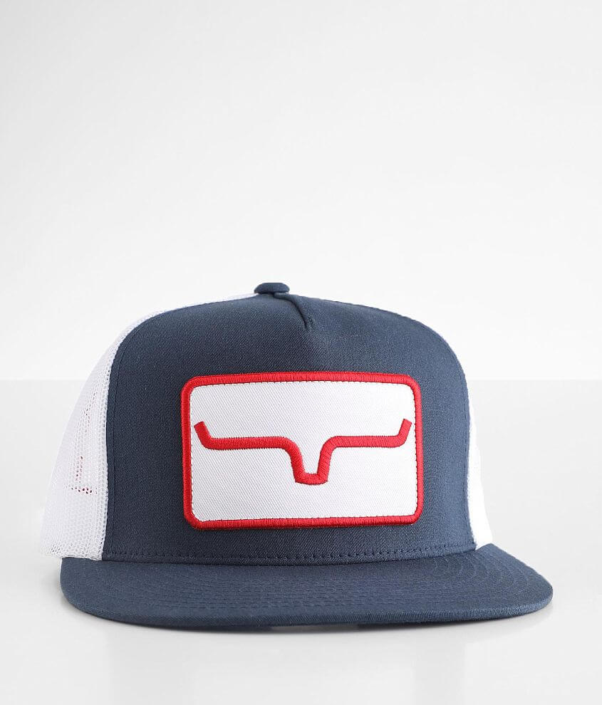 Kimes Ranch Banner Trucker Hat front view