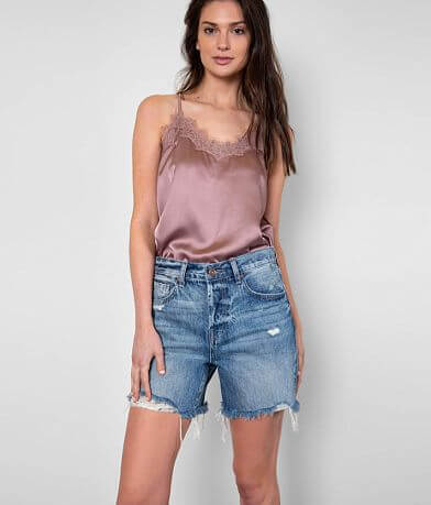 PISTOLA Devin High Rise Mom Cut-Off Short