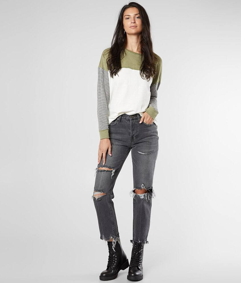 PISTOLA Charlie High Rise Ankle Straight Jean