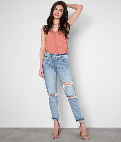 PISTOLA Nico High Rise Mom Ankle Straight Jean