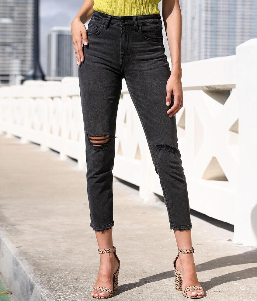 Mom - Sits at the natural waist, fitted through the hip and easy through the leg with a slight taper. Shop All Brill Boutique High rise The inseam on this jean is measuring 26\\\