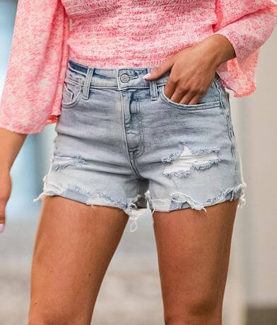 Willow & Root High Rise Mom Fit Stretch Short