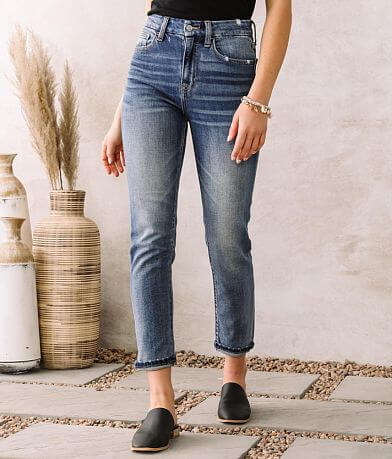 Willow & Root High Rise Mom Fit Stretch Jean