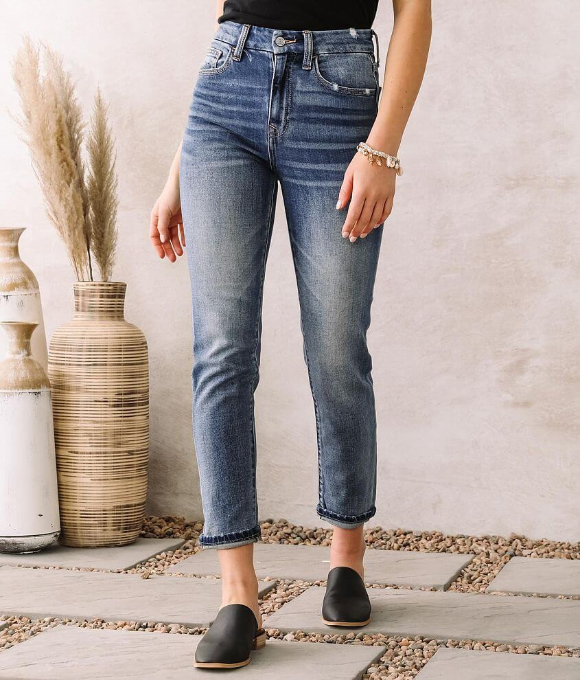 Mom - Sits at the natural waist, fitted through the hip and easy through the leg with a slight taper. Shop All Brill Boutique High rise Cuffed - extend your inseam 1\\\
