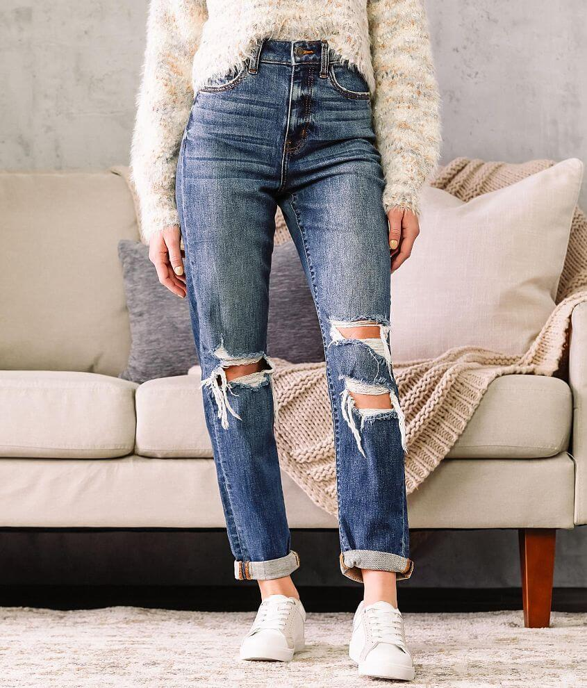Willow & Root Ultra High Rise Mom Jean front view
