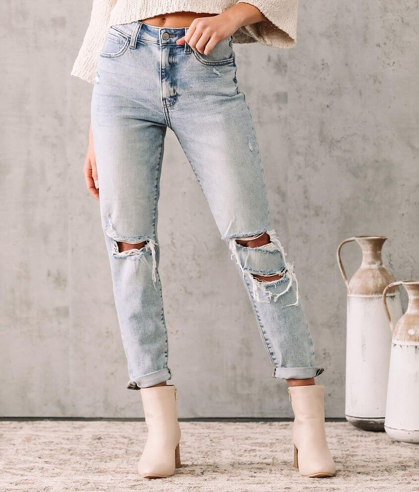 Willow & Root High Rise Mom Jean front view