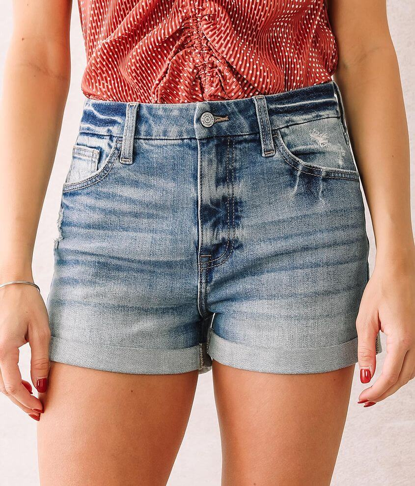 Willow & Root The Mom Fit Cuffed Short front view
