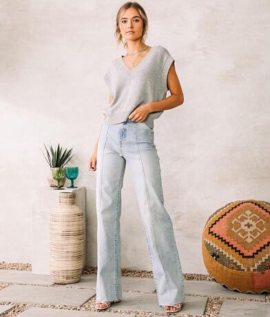 Willow & Root The Wide Leg Stretch Jean
